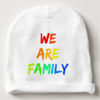 We Are Family Rainbow Adoption, Foster, Blended Baby Beanie