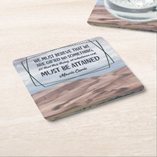 We Are Gifted For Something Square Paper Coaster