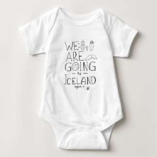 We are going to Iceland! Baby Bodysuit