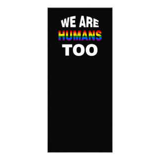 We are humans too rack card