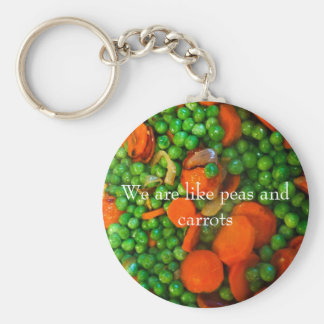 We Are Like Peas and Carrots Basic Round Button Key Ring