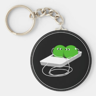 We Are Like Two Peas In A Pod Basic Round Button Key Ring