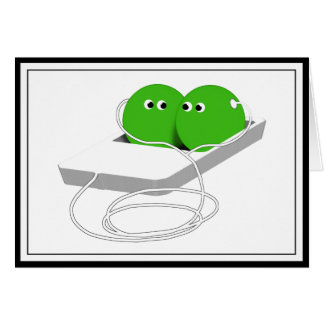 We Are Like Two Peas In A Pod Greeting Card