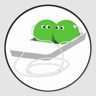 We Are Like Two Peas In A Pod Round Sticker