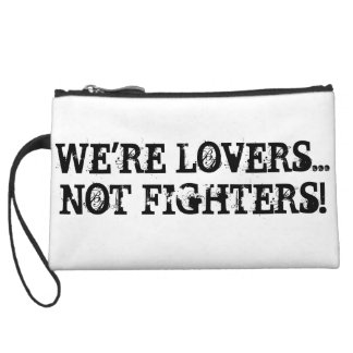 We are Lovers Not Fighters Mini Clutch Bag Wristlet