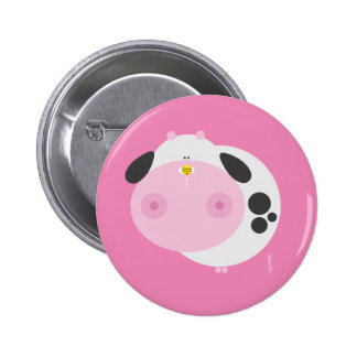 We are made so - cow 6 cm round badge