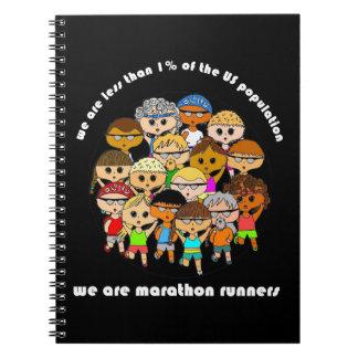 We are marathon runners notebook (black)