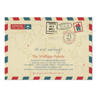 We Are Moving Airmail | Farewell Party Card