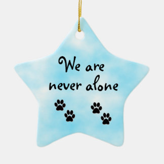 We are never alone-star ornament
