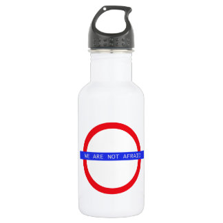 """WE ARE NOT AFRAID"" Water Bottle"