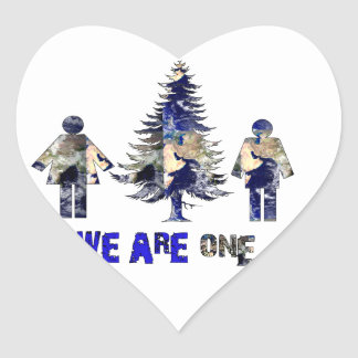 We Are One Heart Sticker