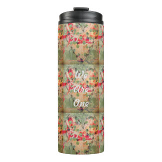We Are One Hearts Design Thermal Tumbler