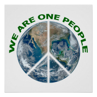 WE ARE ONE PEOPLE sign