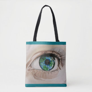 We Are One tote bag - teal
