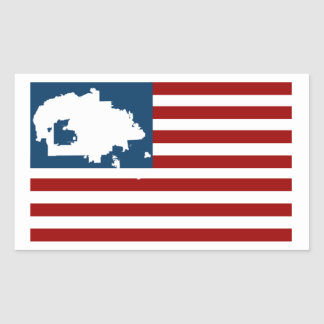 WE ARE STILL HERE! Navajo Nation on American Flag Rectangular Sticker