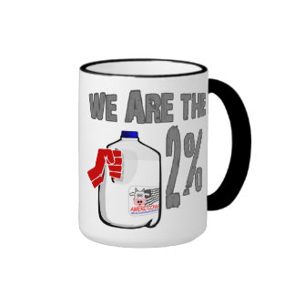 We Are The 2% Milk! Funny Occupy Wall Street Spoof Ringer Coffee Mug
