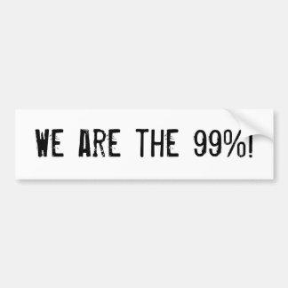 We are the 99%! bumper sticker
