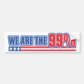 we are the 99% in the United States Bumper Sticker
