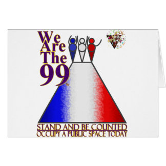 We Are The 99% Occupy Public Space Card