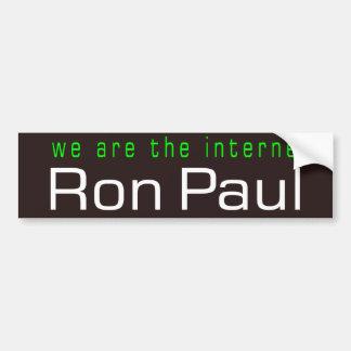 We are the internet car bumper sticker