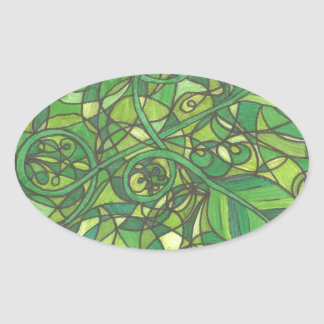 We are the vines 001.jpg oval sticker