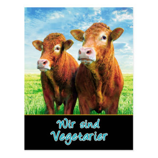 We are vegetarians postcard