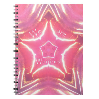 """We Are Warriors"" Breast Cancer Awareness Journal Spiral Note Book"