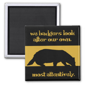 we badgers square magnet