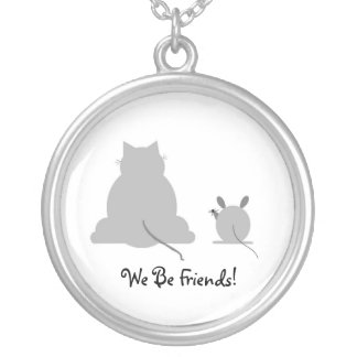 We Be Friends Round Pendant Necklace