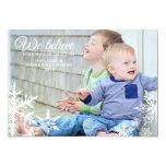 We Believe | Holiday Photo Greeting Invitation