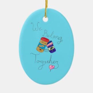 We Belong Together Oval Ornament