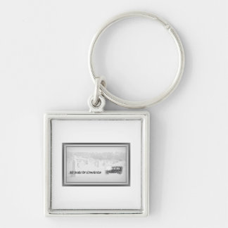 We brake for cemeteries! key ring