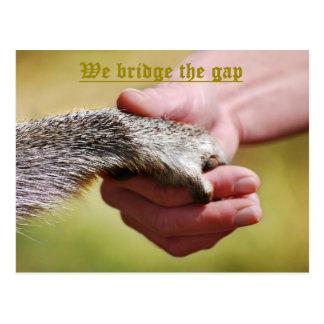 WE BRIDGE THE GAP POSTCARD