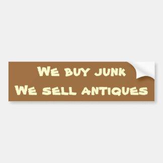 we buy junk bumper sticker