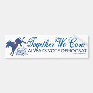 We Can Blue Donkey Kick Bumper Sticker