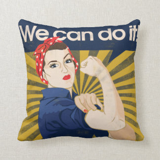 We can do it feminism cushion