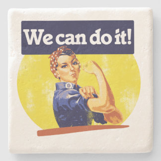 We can do it Rosie Riveter Stone Coaster