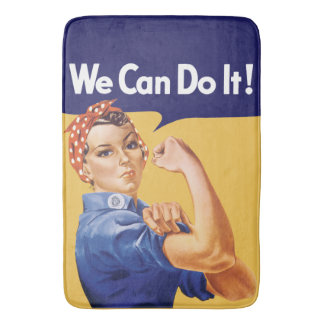We Can Do It! Rosie the Riveter Bath Mats