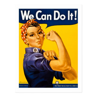 We Can Do It! Rosie the Riveter Vintage WW2 Postcard