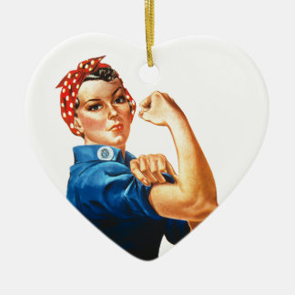 We Can Do It Rosie the Riveter Women Power Ceramic Ornament