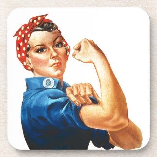 We Can Do It Rosie the Riveter Women Power Drink Coaster