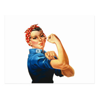 We Can Do It Rosie the Riveter Women Power Postcard