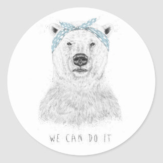 We can do it round sticker