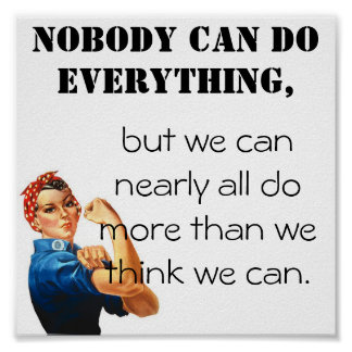 We can do more than we think we can! poster