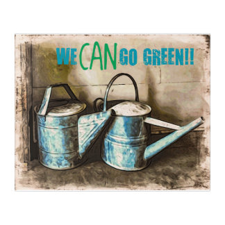 We CAN Go Green Acrylic Wall Art