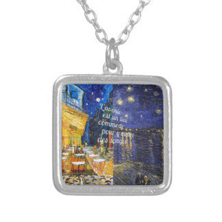We can make our dreams come true silver plated necklace