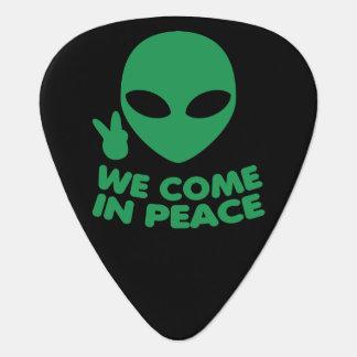 We Come In Peace Alien Guitar Pick