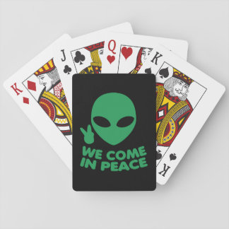 We Come In Peace Alien Playing Cards