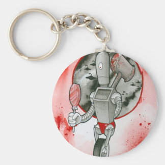 """We come in peace..."" Basic Round Button Key Ring"