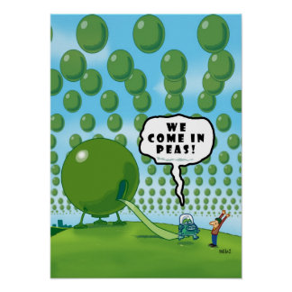 We Come in Peas Poster